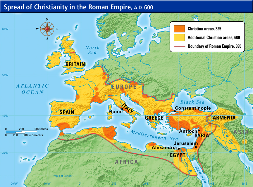 tracing back the history of christianity from the roman empire in 381 ad Finally, as history, the work stands or falls on the accuracy and depth of its report of events covering more than twelve centuries, and in gibbon was more interested in recounting the principal events of the empire's history than he was in analyzing events in an effort to account for the downfall of rome.