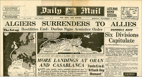 operation torch NewspaperAlgiers